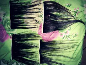 Cortinas de pelo natural 40 cm de largo