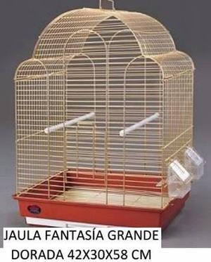 Jaula Aves Canarios Dorada Hermosa La Mas Linda Petshop Beto
