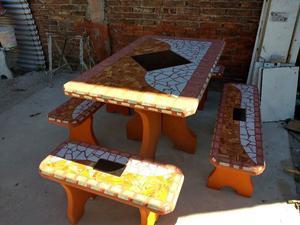 Mesa de jardin de cemento | Posot Class