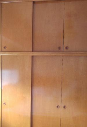 Placar de madera maciza de dos cuerpos que se ensamblan, los