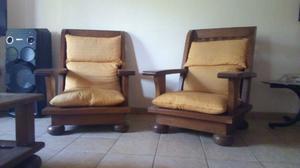 Vendo sillones de algarrobo