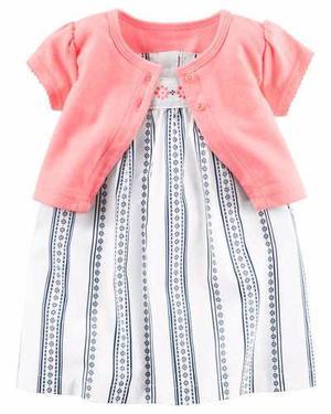 Vestido Carters 2 Piezas Con Saco Importado Cal.100%+