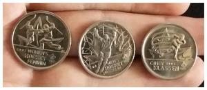 Canadá lote x3 Monedas de 25 Cents Hockey Patinaje $65