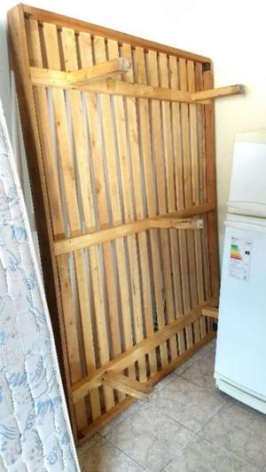 Elástico de madera para cama de 2 plazas y 1/2 más