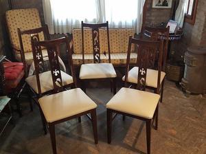 Juego de 5 sillas de comedor