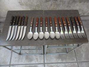 Juego de 6 cuchillos, 6 tenedores y 6 cucharas Tramontina