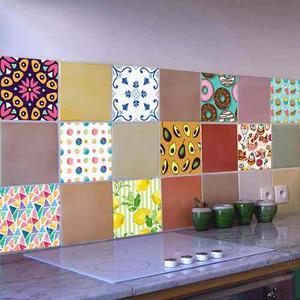 Azulejos vinilo autoadhesivo cocina ba o venecitas posot - Azulejos decorativos cocina ...