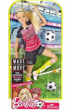 Barbie Articulada Made To Move Futbolista!!!