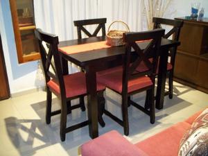 Mesa y 4 sillas !! entrego gratis a domicilio !! ♥