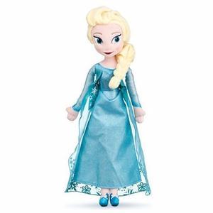 Muñeca Peluche Elsa De Frozen 40 Cm, Excelente Calidad!