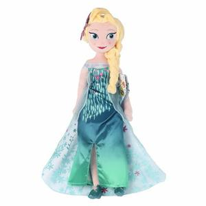 Muñeca Peluche Elsa De Frozen Fever 40 Cm Excelente Calidad