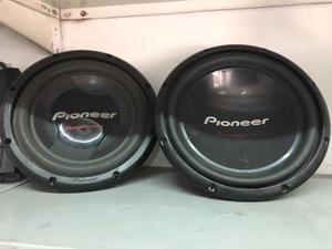 2 woofer pioneer de 12'' y potencia dk