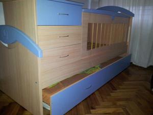 Cuna funcional con cama adicional