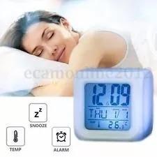 Reloj Despertador Cubo Led Color Fecha Y Temperatura