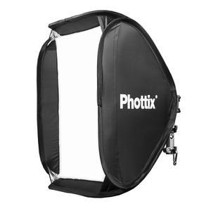 Soft Box Phottix 60x60cm P/ Flash Zapata C/ Rotula Metal