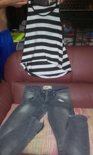 combo jeans y remera