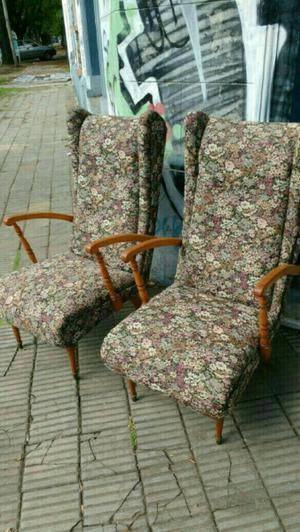 2 sillones de estilo tapizados en tela posot class - Sillones de estilo ...