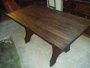 mesa de comedor de algarrobo rectangular 1.60mts