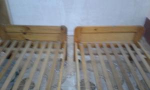 2 camas de 1 plaza de pino
