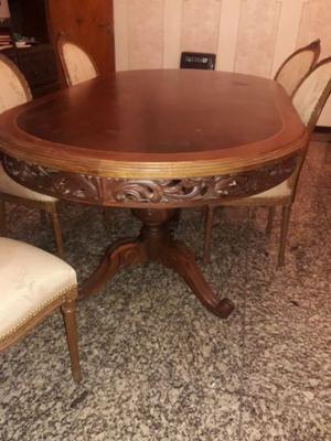 Antigua Mesa estilo Luis XV + 6 sillas