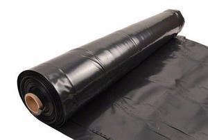 Cobertor negro de polietileno espesor 200 micrones 2x50mts