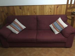 Juego de Sillones de Chenille. 1 Sofa de 3 cuerpos y 2