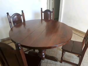 Mesa + 8 sillas de algarrobo