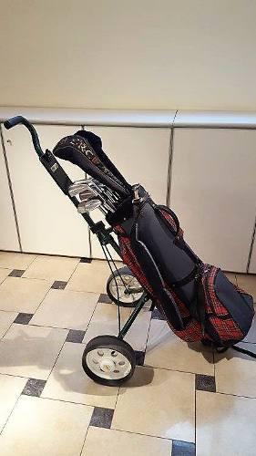 Palos De Golf - Set Completo. Carrito. Portapalos Y 13 Palos