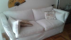 Sillon de 2 cuerpos tapizado Blanco - Usado