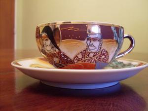 Taza Y Plato De Colección Porcelana Japonesa
