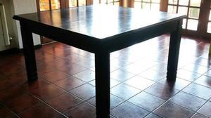 Vendo mesa cuadrada para 4 personas posot class for Mesa algarrobo usada