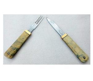 Antiguo Set De Tenedor Y Cuchillo para asado o viaje