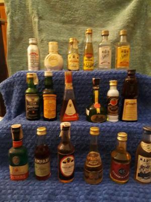 Botellas Miniatura De Coleccion Importadas Impecables Lote A