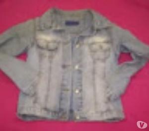 Campera Jeans Husky T24 Estilo Gastada Azul¡¡¡use En