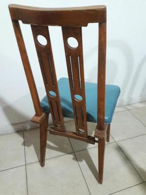 LIQUIDO juego de 6 sillas de madera en muy buen estado