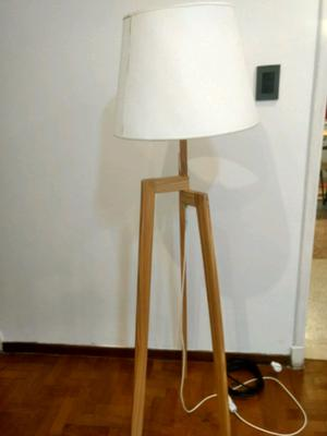 Lámpara de Pie Moderna Madera con dimer