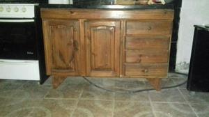 Mueble de cocina y mesada de granito con bacha 1.20