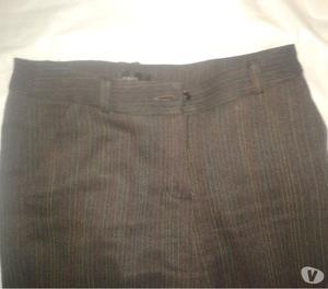 Pantalon De Vestir Orix Lanilla Jaspeada Marron use 1 vez