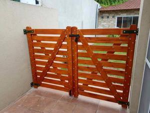 Vendo tranqueras de madera posot class for Puertas madera a medida