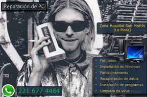 REPARACION DE PC EN LA PLATA. PRECIOS ACCESIBLES. ZONA