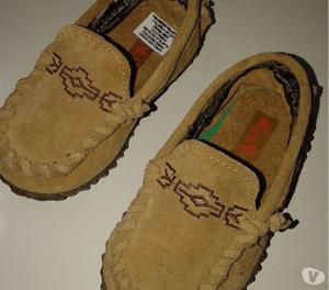 Zapato 19 Keek Nautico Mocasin Cuero Gamusa Use 1 Vez