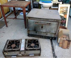 Horno Pizzero Y Anafe Doble, Industrial.