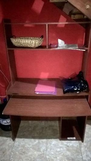 Mesa escritorio para pc con estante para impresora y