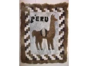 Tapiz De Legitima Piel De Alpaca, Llama Y Cordero