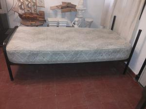 Vendo cama 1 plaza + colchon pullman silver resortes