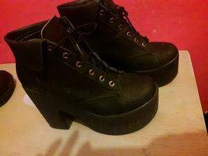 Zapatos botinetas negras