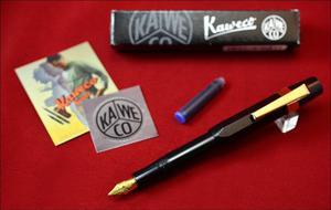 Kaweco Sport Estilográfica Color Negro C/clip Dorado