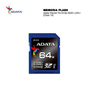 Memoria Sd Adata Pro 64gb Clase 10 Sdxc