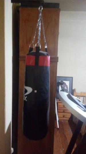 bolsa de boxeo y soporte 1.20m