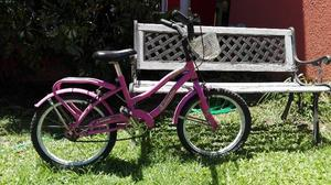 Bicicleta Rodado 16 Nena Rosa Con Canasto Muy Buena